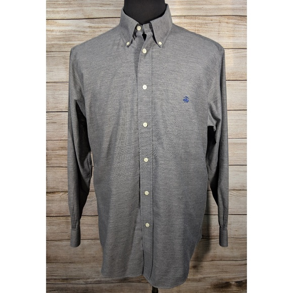 Brooks Brothers Other - Brooks Brothers Grey Traditional Regent Shirt XL